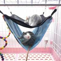 High Quality Hot Sale Small Pets Toy Double-layer Canvas Hanging Bed Hammock For Squirrel Hamster Chinchillas Cat Or Dog