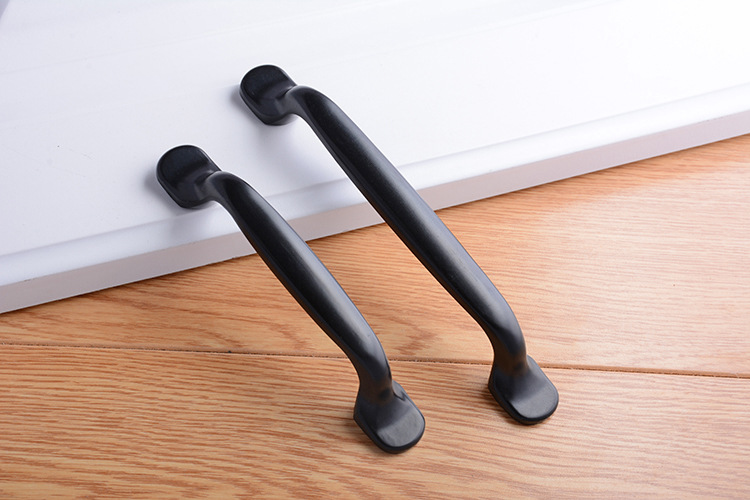 H1f309b1a06f442898d35daea82922dd7v - Aluminum Alloy Black Cabinet Handles American Style Solid Kitchen Cupboard Pulls Drawer Knobs Furniture Handle Hardware