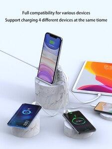 "Image 2 - 30W מהיר תשלום 3.0 רב USB מטען נייד טלפון מטען מקסימום 3A האיחוד האירופי ארה""ב בריטניה Destop מטען עבור iPhone12 QC3.0 מטען"