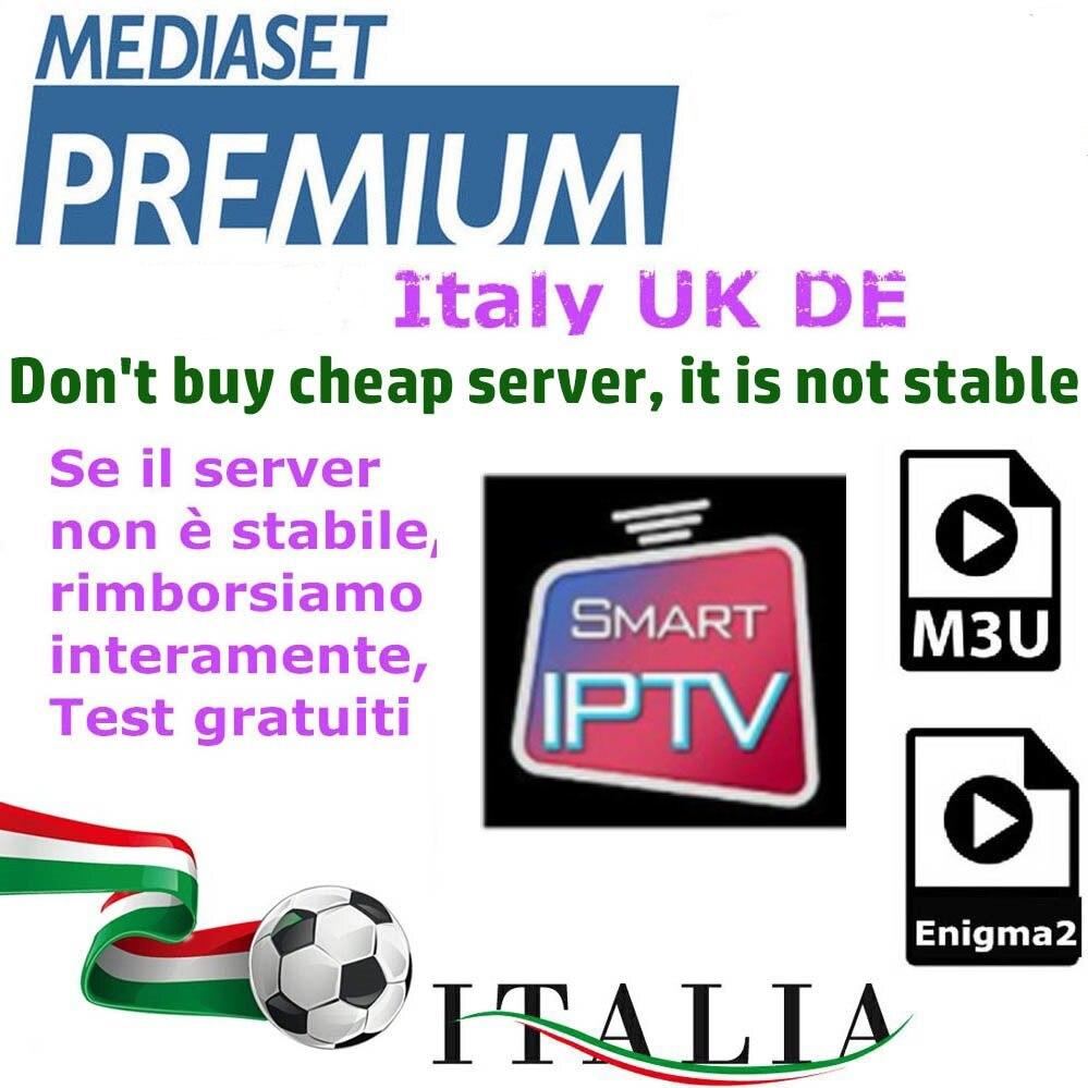 Iptv M3U Enigma2 Iptv Italy UK Germany Channels Mediaset Premium For Android Box Smart TV