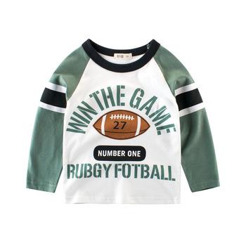 Chłopcy z długim rękawem cothes t-shirty dla dzieci cartoon Toddler t-shirty chłopcy odzież bawełniana koszulki topy dla 1-8 lat tanie i dobre opinie COTTON Na co dzień REGULAR O-neck Tees Pełna Pasuje prawda na wymiar weź swój normalny rozmiar Unisex