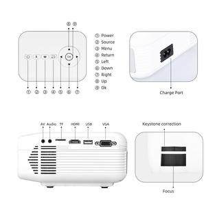 Image 3 - Salange P40W Video Projetor Led Mini Projector for Mobile Phone Beamer for Home Cinema, Support Wireless Sync Display