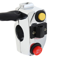 7/8 22MM Motorcycle Handlebar Control Switch Three-function Push Button Start for ATV Suzuki Yamaha