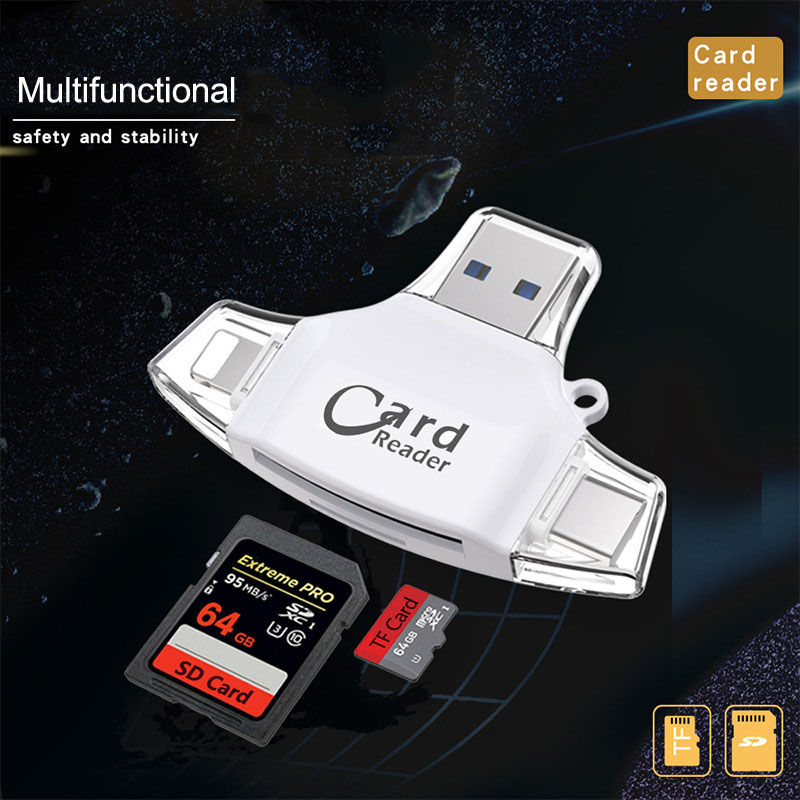 All in one 1 USB SD TF Card Reader for iPAD iPhone XS 5 6 7 8 Plus Samsung S7 S8