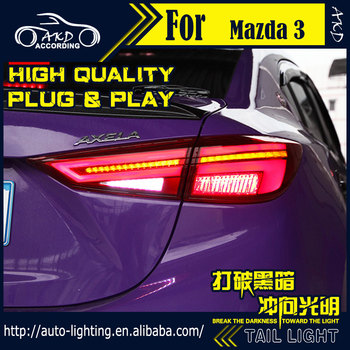 Car Styli Tail Lamp for Mazda 3 LED Tail Light 2014-2018 Mazda3 Axela LED Rear Lamp LED Dynamic Turn Signal LED Brake Reverse