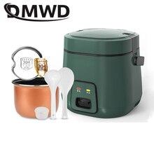 DMWD 1.2L Mini elektrikli pirinç pişirici 2 kat ısıtma buharlı pişirme tenceresi çok fonksiyonlu yemek pişirme Pot 1 2 kişi yemek kabı ab abd Plug