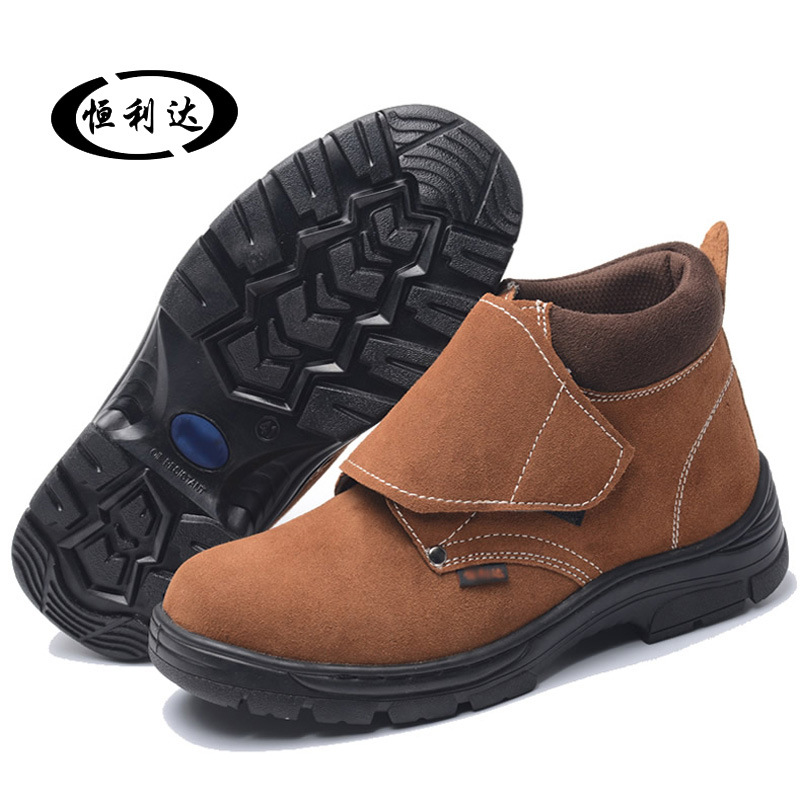 Wear-Resistant Steel Head Electric Welding Shoes Men And Women Smashing Anti Puncture Safety Shoes Manufacturers Direct Selling