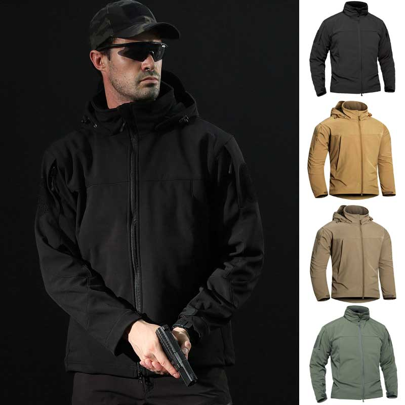 2019 Molecular Composite Fabric Softshell Windbreaker Camouflage Waterproof Man Thermal Hoodie Jackets Tactical Military Uniform