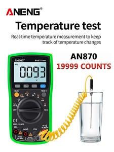 ANENG Digital Multimeter Transistor-Tester Capacitance-Meter True Rms Profesional 19999