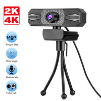 4K Ist Geeignet Für Laptop Desktop-Computer Live USB Web Kamera Netzwerk HD Computer Kamera 2K Fahrer-freies Gebaut-in Mikrofon