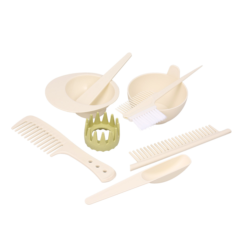 8pcs Hair Color Mixing Dye Kit Hair Coloring Set Salon Tool Hair Dyeing Tint Brush Comb Bowl Whisk Hair Styling Accessories