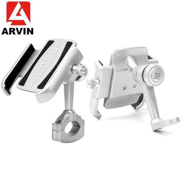 ARVIN alüminyum dağ bisikleti gidon telefon tutucu standı 360 ayarlanabilir motosiklet dikiz aynası 4 6.5 inç telefon dağı