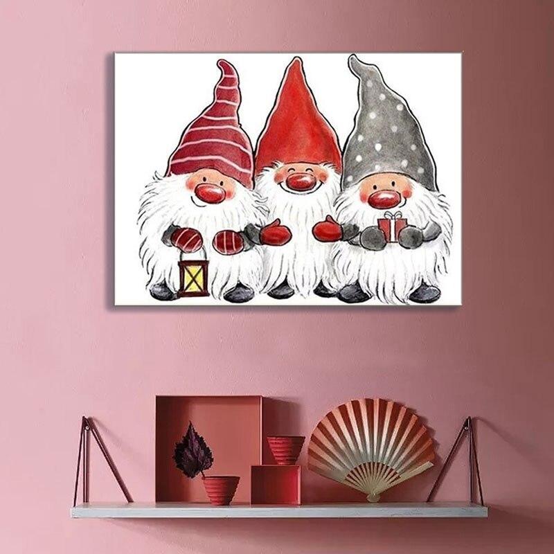 Купить с кэшбэком 5D Diamond Painting Santa Claus Painting with Diamonds Cross Stitch Full Round Diamond Mosaic Christmas Diamond Embroidery Gift