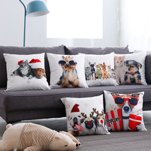 Hot Sale Digital Printing Animal Cushion Cover suede Pillow Case  Office Automobile Set Sofa