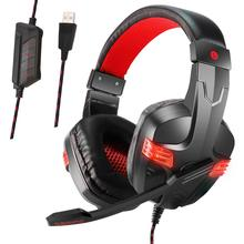 цена на Soyto Best Stereo Gaming Headset 7.1 Virtual Surround Bass Gaming Earphone Headphone with Mic LED Light for Computer PC Gamer