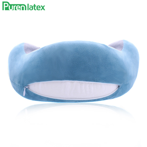 Image 4 - PurenLatex U Shape Latex Travel Pillow Neck Pillows Protect Cervical Spine Orthopedic Support Neck Release Pressure for Airplane