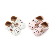Infant Toddler Shoe Non-slip Baby Toddler Shoe Hollow Pattern Artificial PU Toddler Shoes Girl Soft Soled Leather Baby Shoes