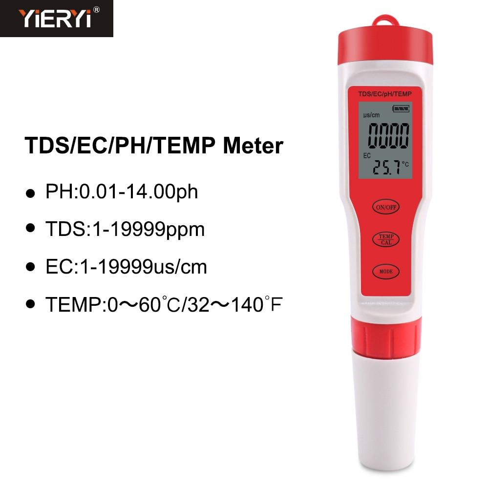 tds ph temp qualidade da água monitor