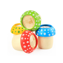 Радуга Цвет деревянные игрушки Magicalal мини-калейдоскоп пчелиный глаз эффект многоугольник Призма детские игрушки подарочные наборы Развивающие игрушки
