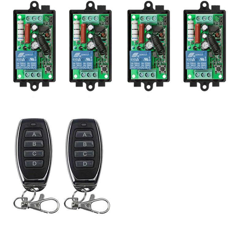 AC220V 1CH RF беспроводной пульт дистанционного управления реле передатчик + приемник системы безопасности Гаражные Двери Лампа для жалюзи