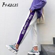 FANIECES настоящая фотография осень хип-хоп тренд свободная с печатью спортивные штаны луч ноги Harajuku bf stlye брюки уличная