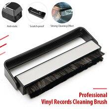 Combinação de discos de vinil jogador lidar com escova de fibra de carbono turntables limpeza escova fonógrafo registro limpeza