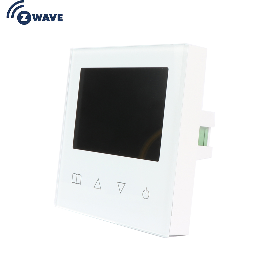 Haozee Z Wave Plus Smart Thermostat Temperature Controller For Water/Electric Floor Heating With LCD Touch Screen