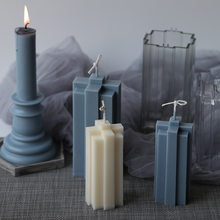 Acrylic Clear Candle Mold Square stripe handmade candle mold scented candle diy acrylic mold