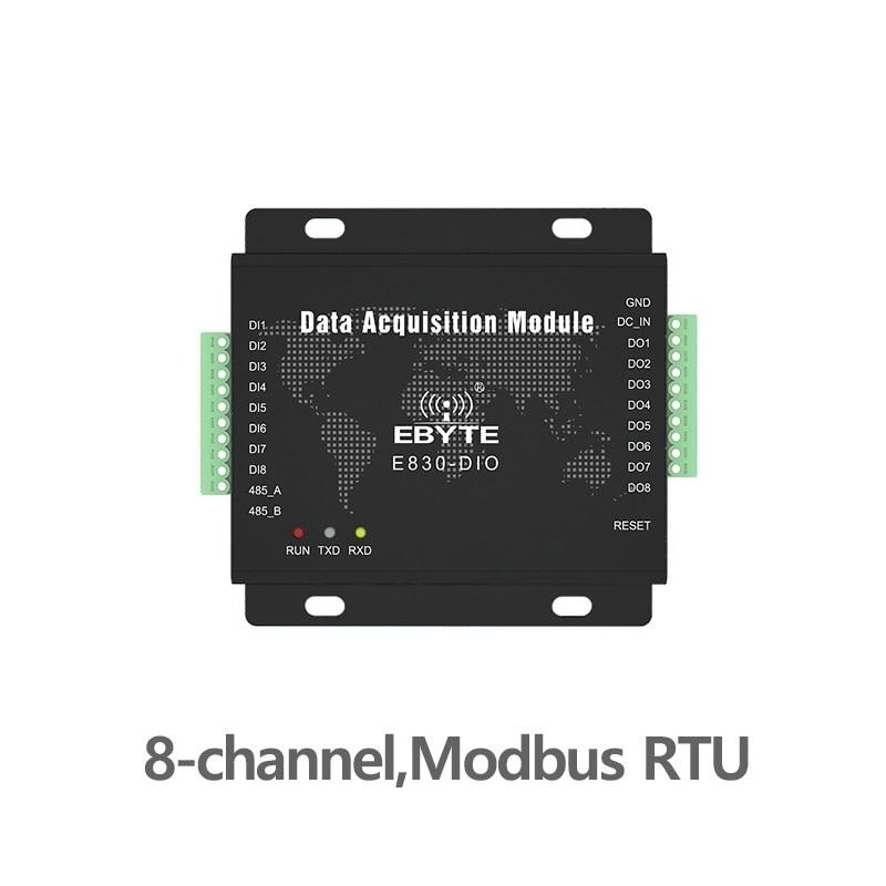 E830-DIO(485-8A) Digital Signal Acquisition Modbus RTU RS485 8 Channel Serial Port Server Switch Quantity Collection