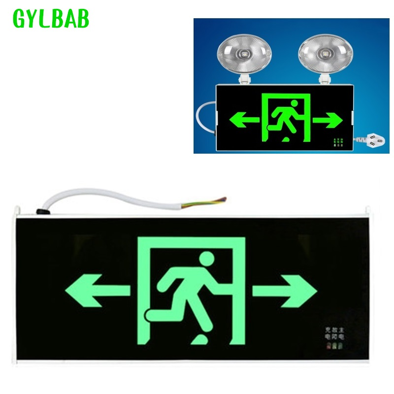 Emergency Light Lamp Fire LED Exit Indicator Sign For Emergency Evacuation Indicator Light Sign For Power Plug In