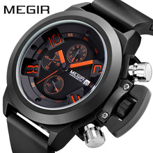 цена MEGIR Original Watch Men Sport Quartz Men Watches Chronograph Wrist Watch Relogio Time Hour Clock Reloj Hombre Mens Watches