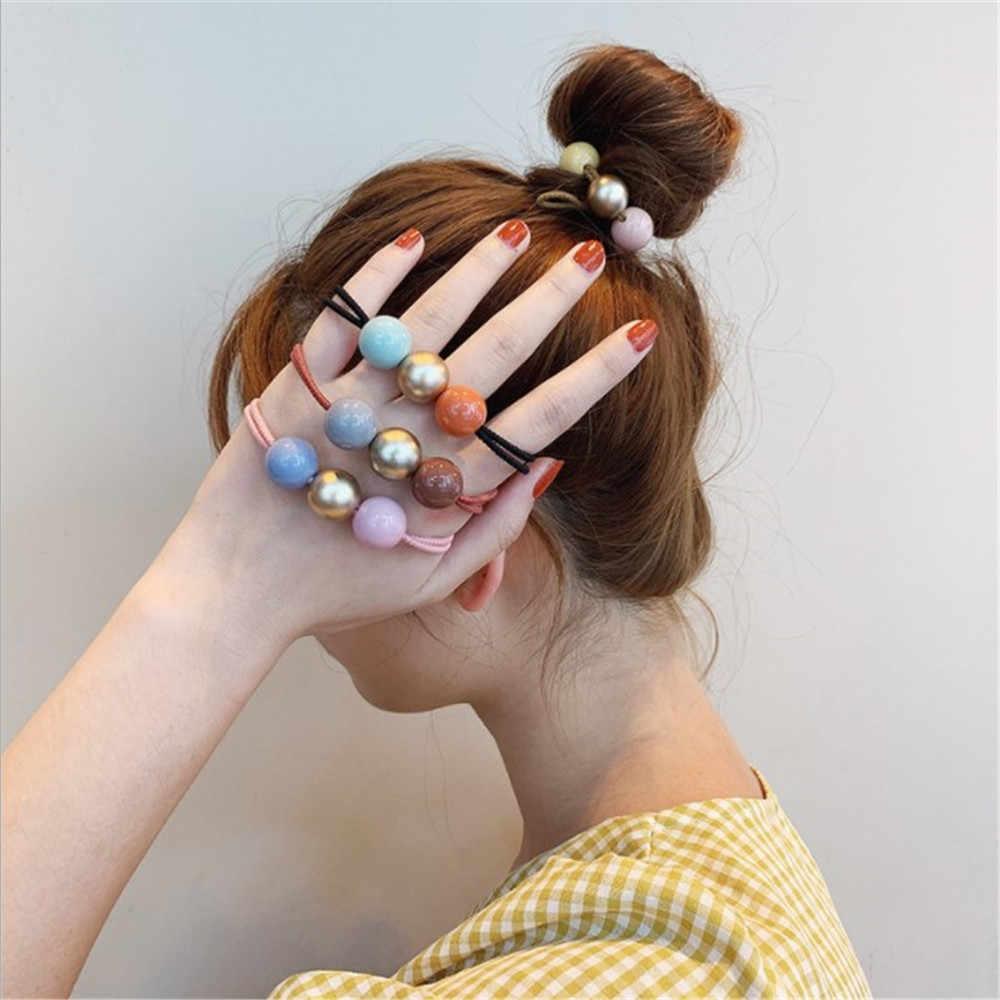 كوريا بسيطة مزاجه ضرب لون الشعر حلقة رئيس حبل الإناث الجلود حالة شريط مطاطي الشعر حبل الكبار غطاء الرأس
