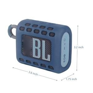 Image 4 - Coque peau de protection en Silicone coloré anti poussière avec mousqueton pour haut parleur Bluetooth JBL GO 3 Go3