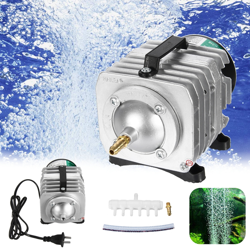 Oxygen Pumps 55W 82L/min Air Pump AC 220V Fish Tank Air Hydroponic Aquarium Compressor Tank Fountain Pond US Plug Tool Sets