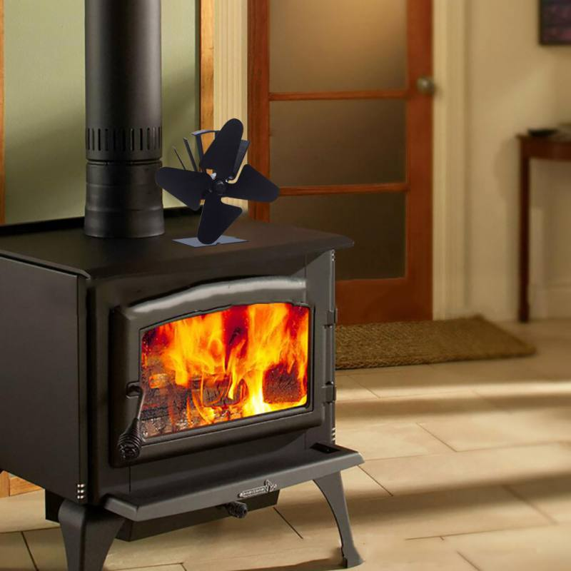 Four-Leaf Fireplace Fan American Standard Socket Heating, Cooling & Vents Fireplaces Stoves Four-leaf, Fireplace Fan