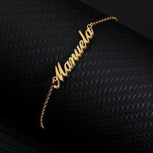 Женский и мужской браслет на щиколотке с надписью Crown Name Enkelbandje из нержавеющей стали, розовое золото