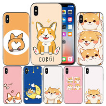 Kot Corgi pies miękkie etui z termoplastycznego poliuretanu etui do Apple iPhone 7 8 6 6S Plus X XS MAX XR 5 5S 5C SE 10 dziesięć XI XIR XI MAX Capa Funda(China)