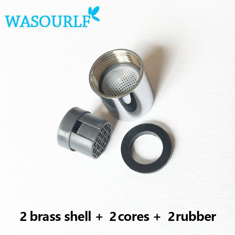 WASOURLF 2 PCS Good Quality Inner M16 Fine Female Thread Tap Aerator Faucet Bubble Brass Basin Kitchen Bathroom Free Shipping