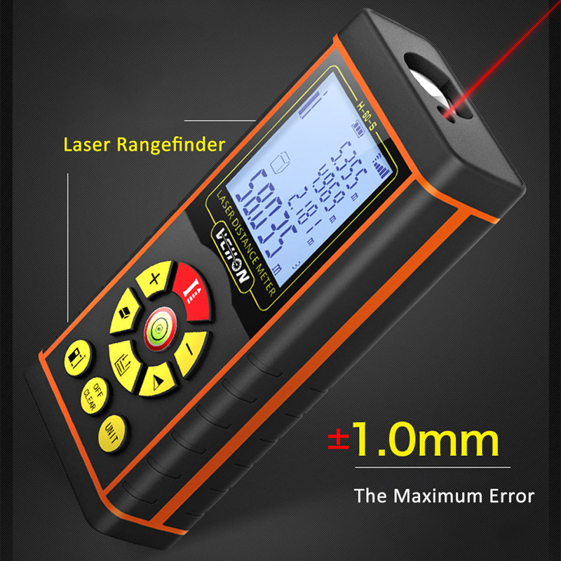 NKTECH Laser Distance Mètre Télémètre Range Finder Zone Volume m//in//ft Tape LCD