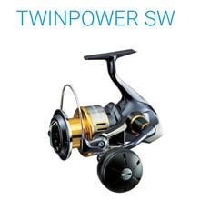 Original SHIMANO TWIN POWER SW 6000PG 8000PG 10000PG 14000XG 11+1BB HAGANE Seawater Spinning Fishing Reel Saltwater Wheel