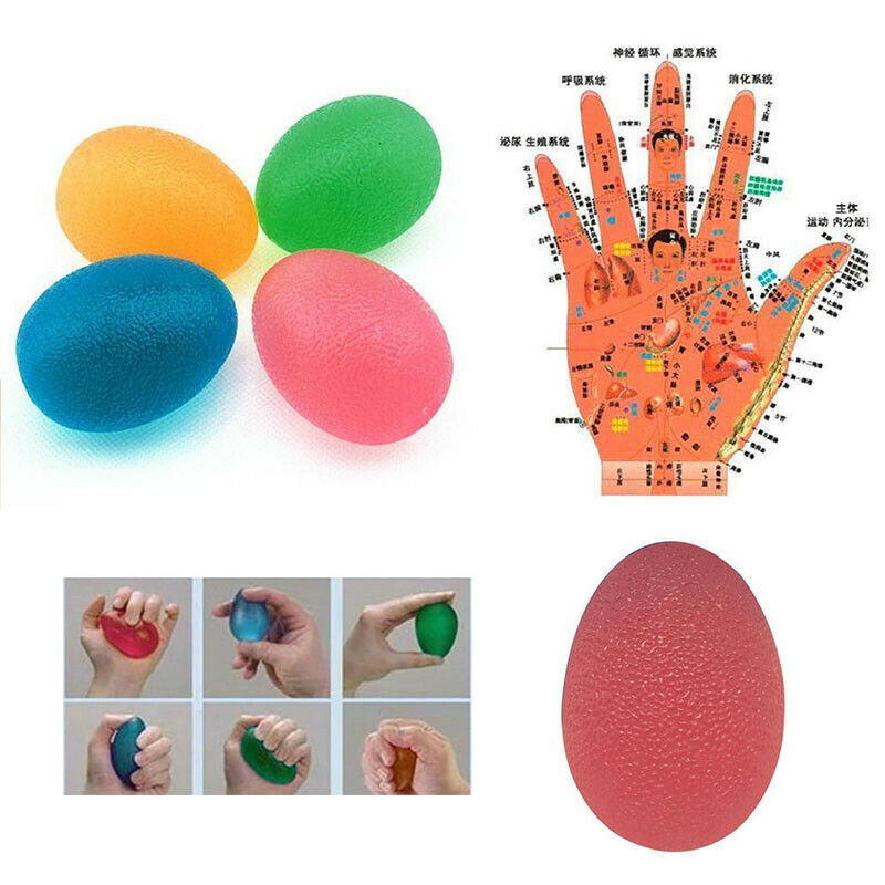 New Arrival 1 Pc Hand Therapy Ball Finger Wrist Arthritis Exerciser Squeeze Stress Ball Toys Silicone Grip Ball Strength Trainer