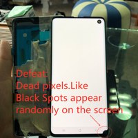 Original Super Amoled LCD With Frame For SAMSUNG Galaxy S10 G9730 Display Touch Screen Digitizer Assembly Black Dot