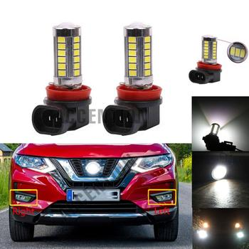 2Pcs LED Light Fog Lamp Bulbs For Nissan x trail X-Trail Rogue 2017 2018 2019 Car-Styling Front LED Bulbs image