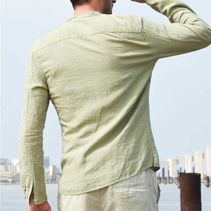 유럽 스타일 캐주얼 남성 셔츠 여름 빈티지 버튼 다운 셔츠 남성 플러스 사이즈 탑 티즈 레귤러 피트 맨즈 Streetwear 2020 B668