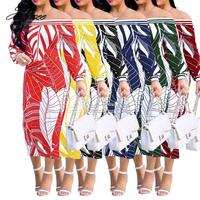 2018 new long dresses for womendresses print clothes pretty neck African dresses women