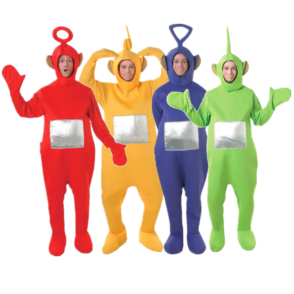 Licensed Teletubbies Fancy Dress Costumes Book Week TV Mens Ladies Adult Outfit