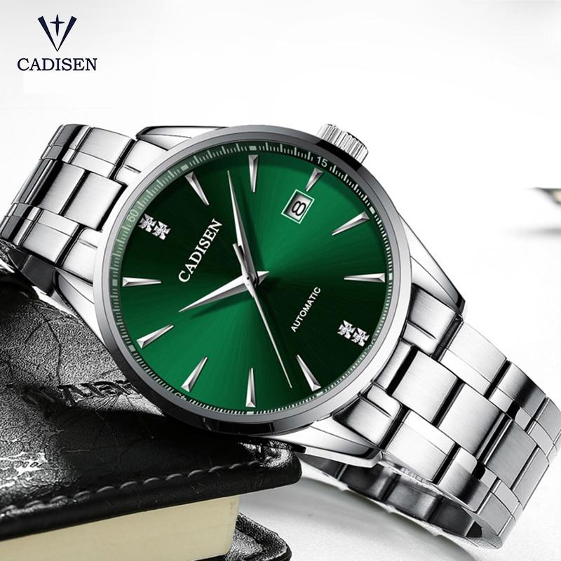 Relojes mecánicos automáticos para hombre, reloj de acero inoxidable para hombre, reloj de negocios impermeable, reloj de hombre, reloj masculino, CADISEN 2019
