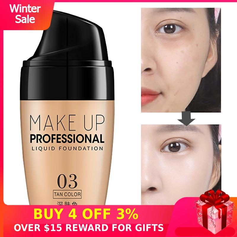 Whitening BB Cream CC Makeup Korean Cosmetics Waterproof Brighten Face Base Concealer Covering Sunscreen Foundation Tone Women P
