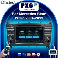 PX6 안드로이드 올인원 자동차 지능형 시스템 2 din 라디오 안 드 로이드 10 화면 메르세데스 벤츠 W203 W209 B200 W245 W463 Sprinter Viano Crafter LT3