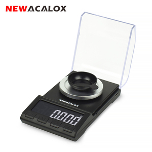 NEWACALOX 50g/100g*0.001g Mini Pocket Digital Scale for Gold Sterling Silver Jewelry Balance USB High Accuracy Electronic Scales(China)